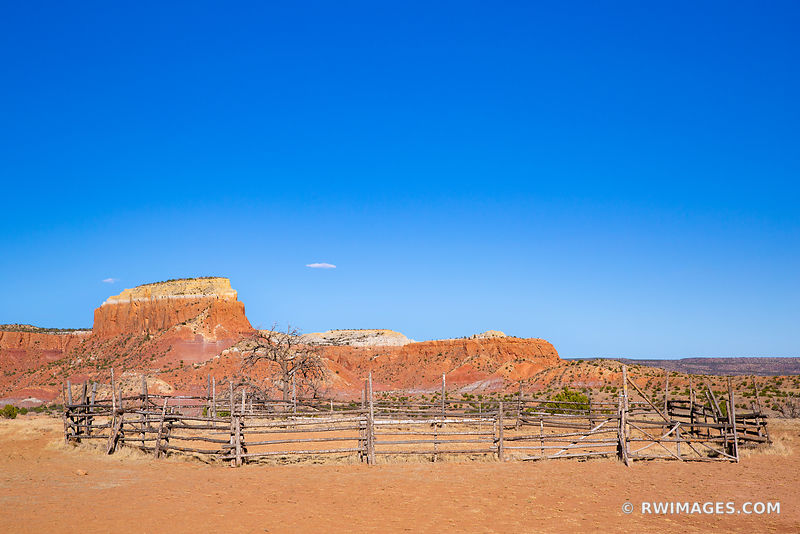 OLD CORRAL GHOST RANCH ABIQUIU NEW MEXICO NORTHERN NEW MEXICO COLOR