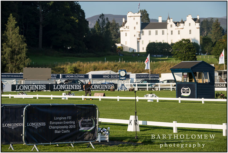 FEI European Eventing Championships 2015 Blair Castle. View of Blair Castle from the main arena.