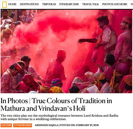 National Geographic HOLI Photo Essay, March 2018