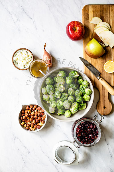 Brussels Sprout Salad ingredients