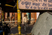 India - Jaipur - A man walks through a street