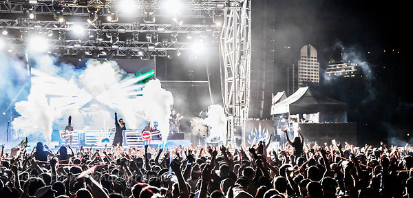 Crowd and light show, Empire of the Sun, TBD Fest, 2014