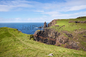 Macleod's Maidens at Idrigill Point near Dunvegan on the Isle of Skye, Scotland, UK.