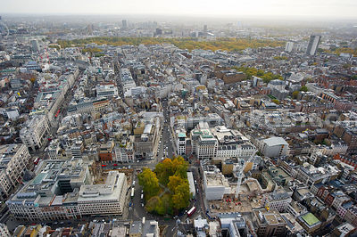 Aerial view over Hanover Square, London