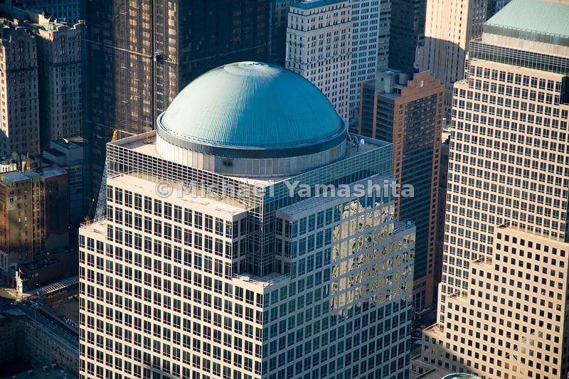 The Cesar Pelli-designed domed tower of 2 World Financial Center is home to Merrill Lynch, and is part of a complex of office...
