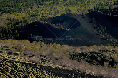 "Old cone in the ""Valley del Bove"" the eastern side of Mount Etna Volcano, Sicily, Italy, May 2009"