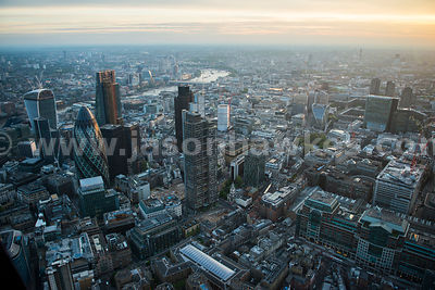 Aerial view of Bishopsgate, London