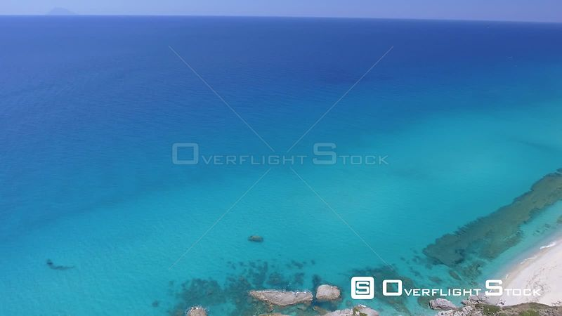 Aquablue Waters of the Mediterranean Sea Calabria Italy