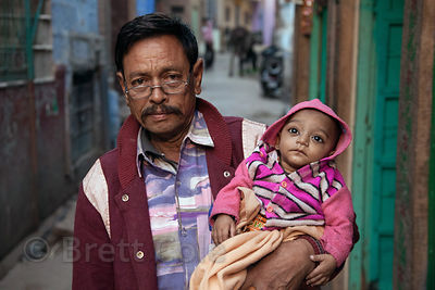 Father and his baby in Jodhpur, Rajasthan, India