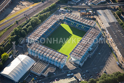 Aerial view of East London, The Den football ground, Bermondsey.