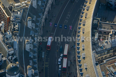 Aerial view of Regent Street, London