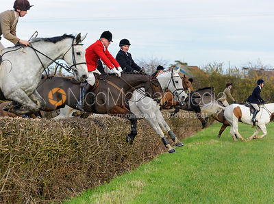 The Belvoir Hunt at Colston Bassett 23/11