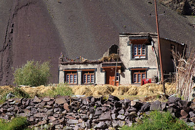 Farmhouse at 13,000 feet in Hemis High Altitude National Park, Ladakh, India