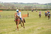 Carromeer, Sarah Longhorn, winning pony race at Balcormo point-to-point on 29Apr2017.