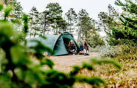 Two girls camping in Denmark 7