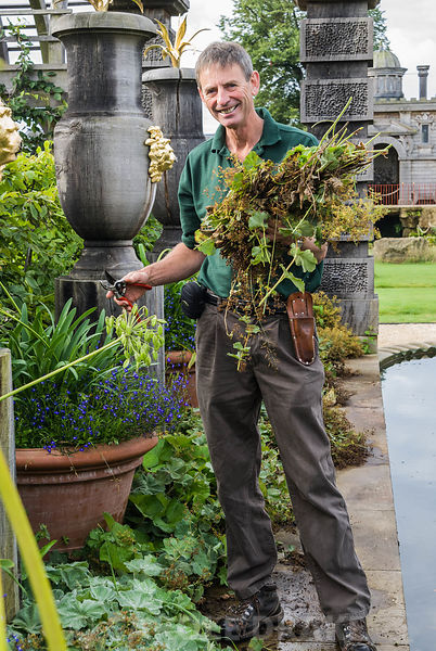 Martin Duncan, Head Gardener. Arundel Castle Gardens, Arundel, West Sussex, UK