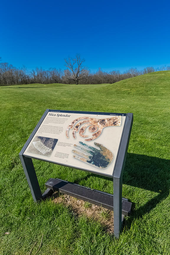 Interpretive Sign about Mica Artifacts at Hopewell Culture National Historical Park