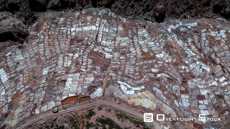 Maras, Salt Mines ( Salinas de Maras ), Inca Ancient Mines seen by drone