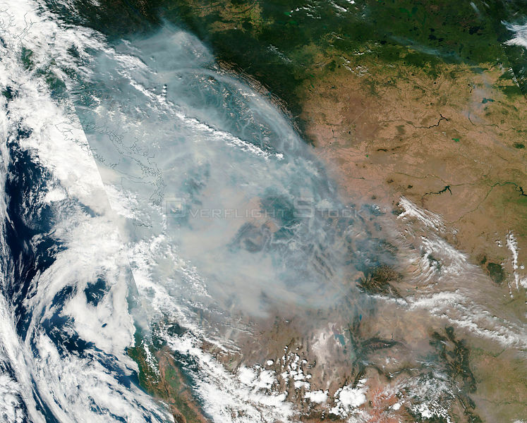 North American Wildfires Smoke Out Area The Size Of Western Europe