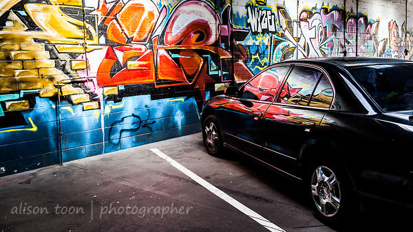Street art and car