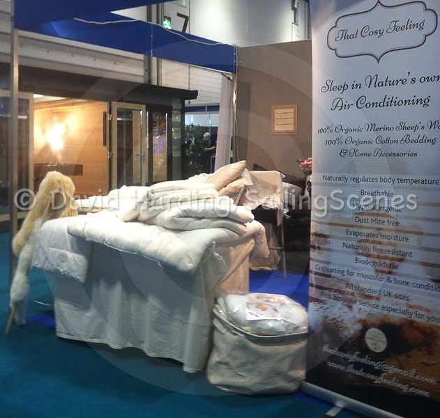 Duvet really sell bedding at a boat show? They do at this one