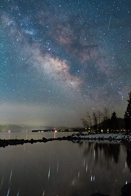 Milky Way Reflection in Lake Tahoe