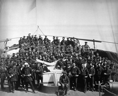 Officers and crew of USS Monocacy during Korean Punitive Expedition of 1871