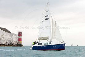 Ra, GBR765M, Moxley 12 catamaran, Round the Island Race 2017, 20170701048