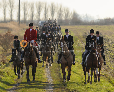 The Cottesmore Hunt at Whissendine 6/12
