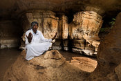 worshipper in Sof Omar Cave, Ethiopia