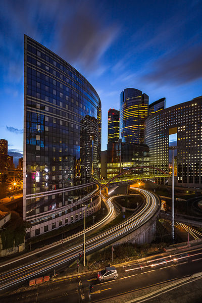 La Défense, blue hour, March 2018