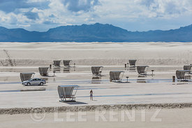 Space Age Picnic Shelters in White Sands National Monument