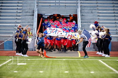 The Cedar Rapids Washington football team exits the tunnel to play Bettendorf prior to the first half of play at Kingston Sta...
