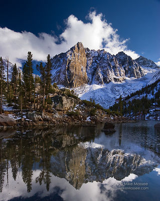 Third lake and Temple Crag, North Fork Big Pine Creek