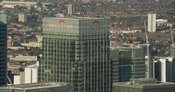 London Aerial Footage of Citi Tower, Canary Wharf