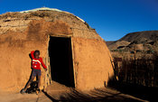 Nama hut, Riemvasmaak, Northern Cape, South Africa