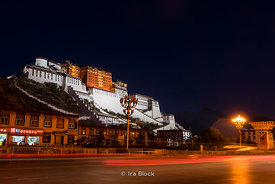 Potala Palace in Lhasa, Tibet.  It was the chief residence of the Dalai Lama until the 14th Dalai Lama fled to India during t...