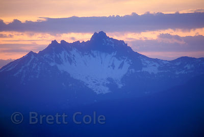 Three-fingered Jack from Horsepasture Mountain, Oregon Cascades.