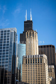 Chicago Buildings with Willis-Sears Tower