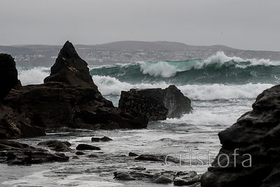 rocks and breaking wave at Godrevy