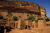 Telí village below the Bandiagara escarpent, Dogon Country, Mali