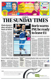 Sunday Times 3 August 2014 - Front Page.4441266 - Steven Paston