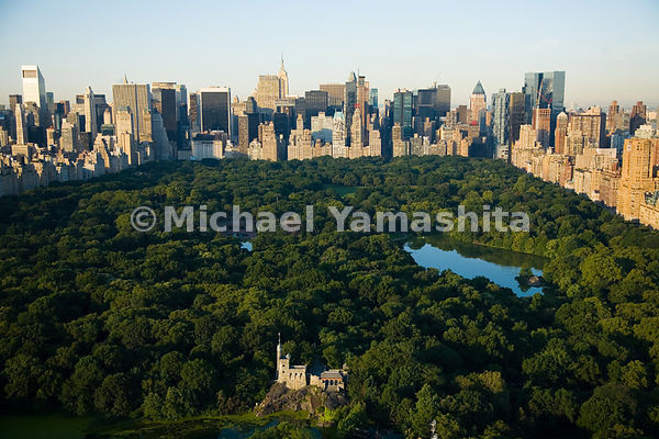 Belvedere Castle, which rises out of Vista Rock, the second highest natural elevation in Central Park, was designed as a Vict...