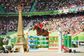WARD, McLain, (USA), Rothchild during Second round Team competition at Alltech World Equestrian Games at Stade Michel D' Orna...