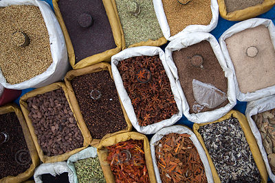 Spices for sale in Sion, Mumbai, India.
