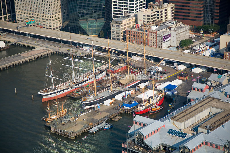 The fleet at the South Street Seaport Museum includes three historic ships that are open to the public: the Peking, the Wavet...