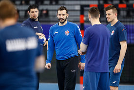 Rade Mijatovic of team Meshkov Brest training during the Final Tournament - Final Four - SEHA - Gazprom league, Skopje, 12.04...