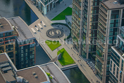 Aerial view of Merchant Square, Paddington Basin, London