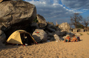 camping on the beach, Likoma Island, Lake Malawi, Malawi