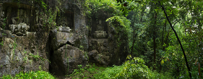Buddhist rock carvings